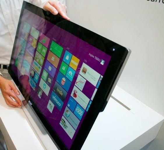 Computex 2012 : Acer, her iki yönde de kullanılabilen hepsi-bir-arada bilgisayar modelini tanıttı