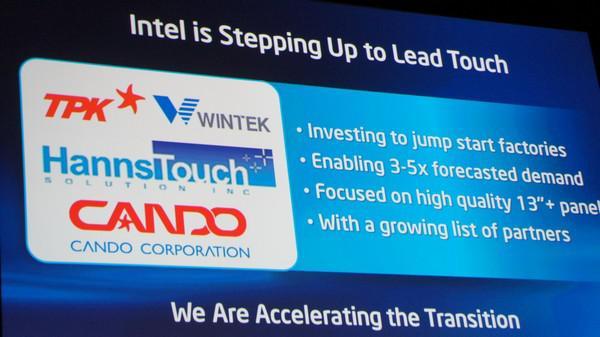 Computex 2012 : Intel'in Ultrabook yatırımları dokunmatik ekran ile devam ediyor