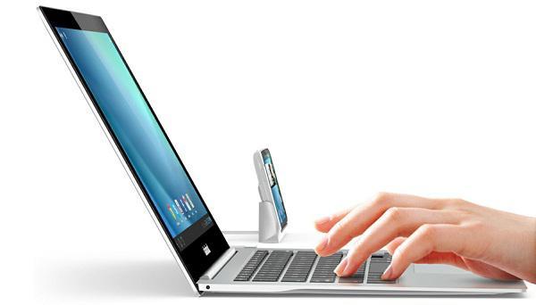 Android ve iOS cihazları için ultra ince notebook docku ClamBook