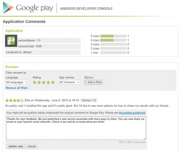Geliştiriciler artık Google Play Store'daki kullanıcı yorumlarını cevaplayabilecek