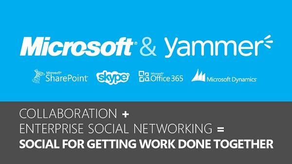 Microsoft, Yammer kurumsal sosyal ağını 1.2 Milyar dolara satın alıyor