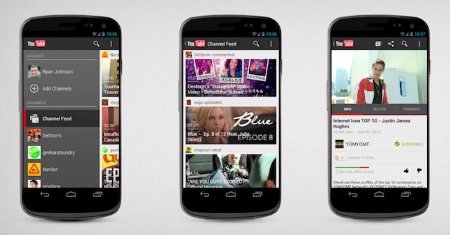 Android için YouTube uygulaması güncellendi
