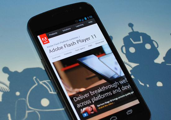 Adobe, Jelly Bean için Flash Player geliştirmeyecek