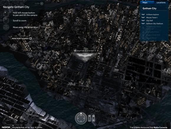 3 boyutlu Gotham şehir haritası yayınlandı