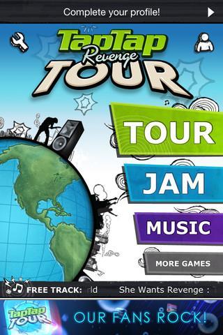 Tap Tap Revenge : Tour, App Store'da yerini aldı