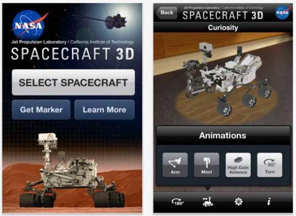 NASA, iOS cihazları için Spacecraft 3D uygulamasını yayınladı