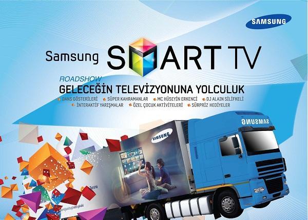 Samsung Smart TV tırı Konya'da