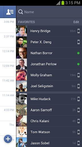 Android için Facebook Messenger, iOS için Facebook uygulamaları güncellendi