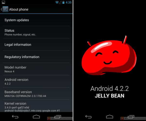 Android 4.2.2 işletim sistemi versiyonu ortaya çıktı