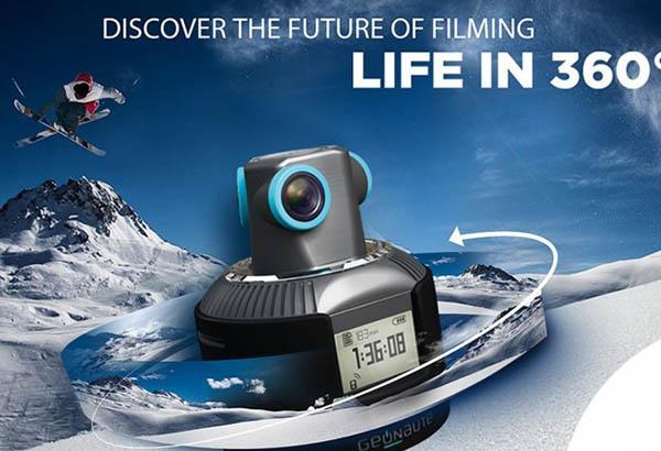 Geonaute isimli 360° video çekebilen spor/aksiyon kamerası tanıtıldı
