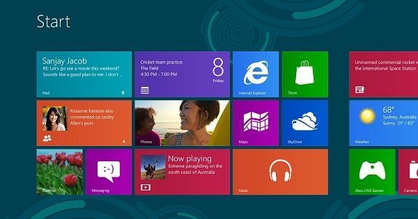 SkyDrive'ın Windows 8 ve Windows RT uygulaması canlı kutucuk desteği kazandı