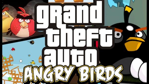 Angry Birds ve Grand Theft Auto evrenleri bir araya gelirse neler olur?