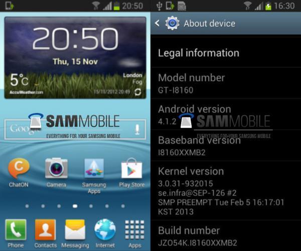 Samsung Galaxy Ace 2 için Android 4.1.2 Jelly Bean güncellemesi sızdı