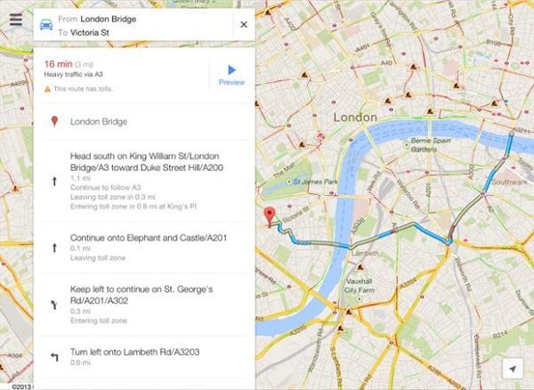 Google Haritalar, iPad desteğiyle güncellendi