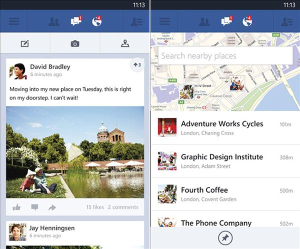 Facebook'un Windows Phone 8 uygulaması güncellendi