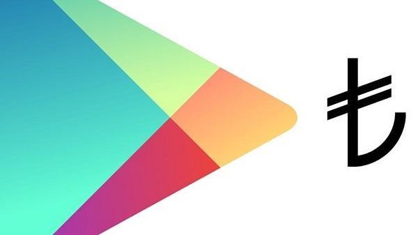 Google Play'de fiyatlar artık TL cinsinden