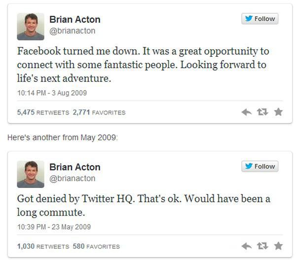 Facebook'un işe almadığı Brian Acton, Whatsapp'ı 19 milyar dolara sattı