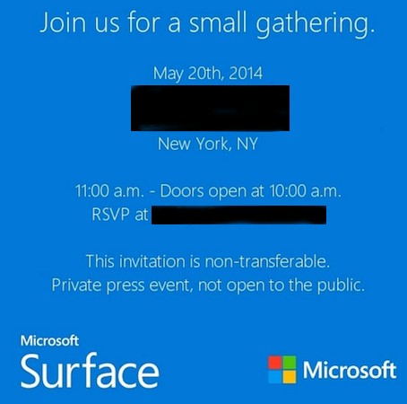 Microsoft, 20 Mayıs'ta yeni bir Surface tableti tanıtmaya hazırlanıyor