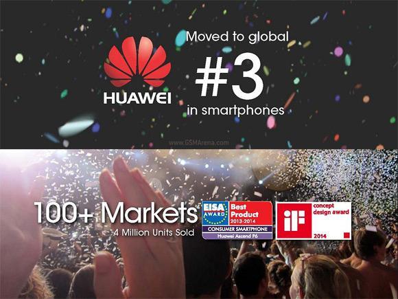 Huawei, akıllı telefon satışlarında 3. sırada bulunduğunu açıkladı