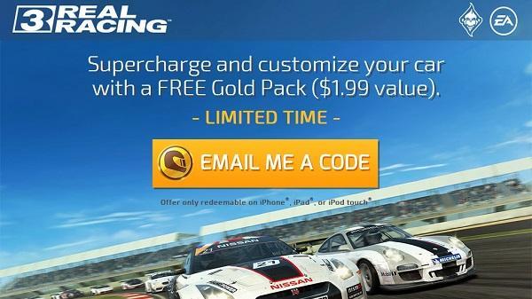 EA, Real Racing 3'ün uygulama içi alımları için promosyon kodu dağıtmaya başladı