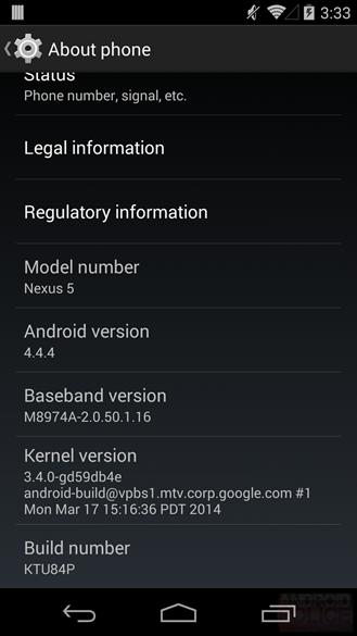 Google Nexus cihazları için Android 4.4.4 yayınlandı