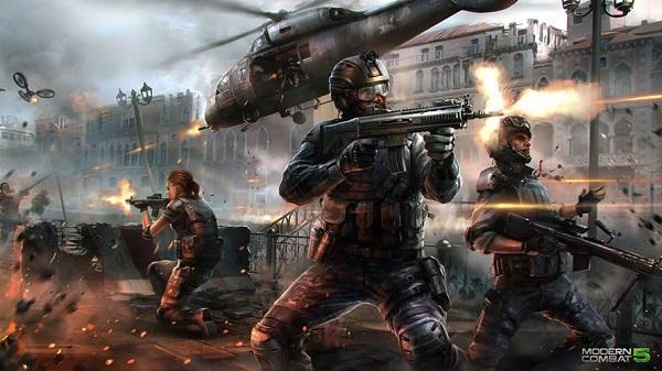 Modern Combat 5'in çok oyunculu modundan uzun bir oynanış videosu