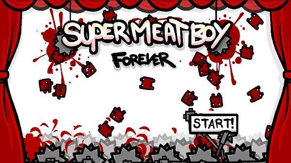 Koşu türündeki Super Meat Boy Forever, mobil cihazlar için geliyor