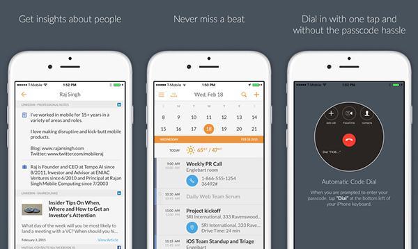 iOS uyumlu Tempo takvim uygulaması da tasarımsal olarak yenilendi
