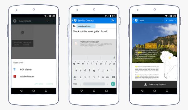 Android için Dropbox güncellendi