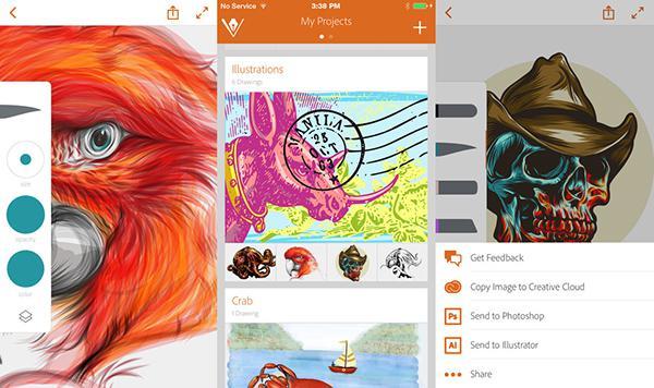 Adobe Illustrator Draw artık iPhone'da da çalışıyor