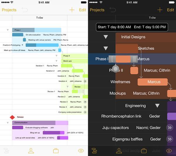 iOS uyumlu OmniPlan 2 uygulaması evrensel yapıldı