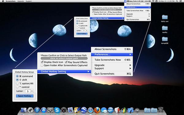 Mac'e özel görüntü yakalama uygulaması Sceenshots yeniden ücretsiz
