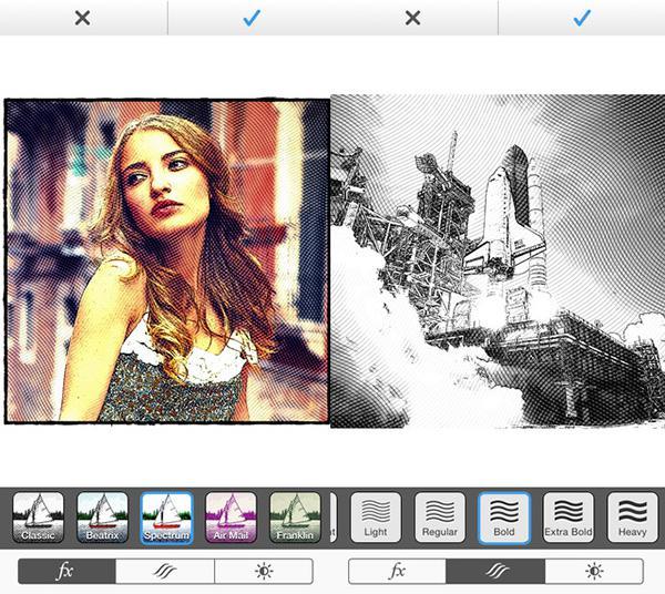 iOS uyumlu fotoğraf filtre uygulaması Etchings ücretsiz yapıldı