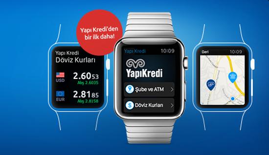 Yapı Kredi bankası Apple Watch'a geçiş yapıyor
