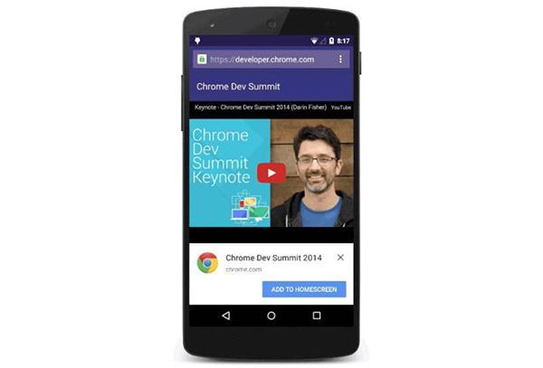 Chrome'un yeni Android sürümüne açılabilir
