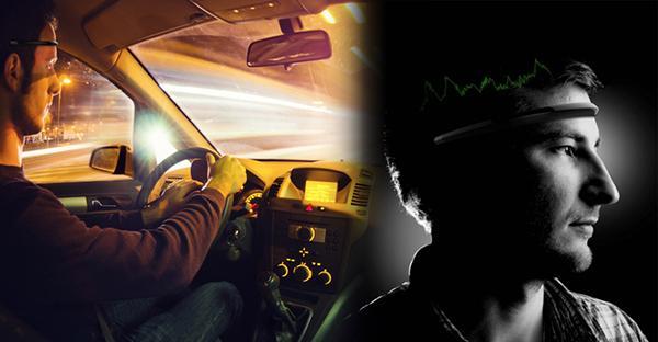 Akıllı cihazlarla iletişim kurabilen kafa bandı, beyin dalgaları üzerinden sürücülerin yorgunluk seviyesini ölçüyor