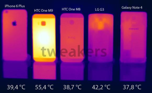Htc One M9'un işlemci sıcaklığı benchmark testlerinde 55 dereceyi geçiyor