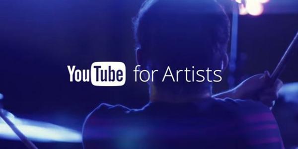 Sanatçılar için YouTube duyuruldu