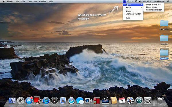 Dinamik duvar kağıtları sunabilen OSX uygulaması MovieDesktop artık ücretsiz
