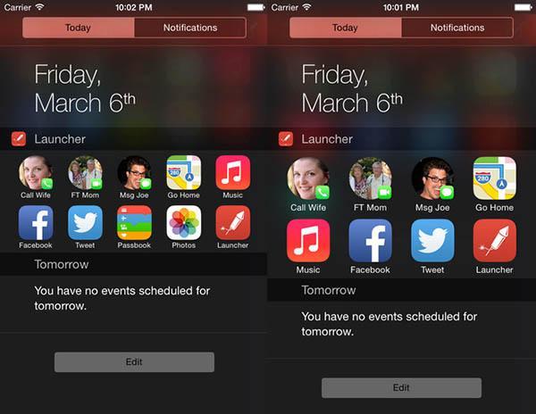 iOS cihazların bildirim merkezini kullanan Launcher markete geri döndü