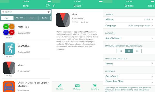 iTunes ortaklık program için hazırlanan kullanışlı yeni iOS uygulaması: Blink