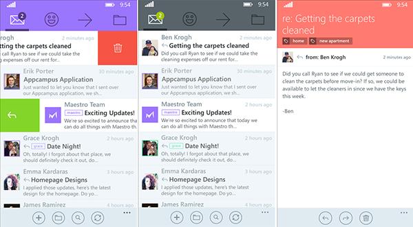 Windows Phone için Maestro e-posta istemcisi kullanıma sunulu