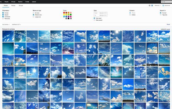 Flickr'ın dahili arama motoru önemli özellikler kazanıyor