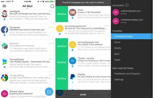 iOS için yeni akıllı e-posta uygulaması: SlideMail