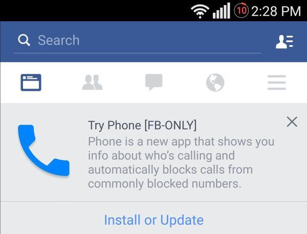 Facebook yeni bir çağrı uygulaması geliştiriyor