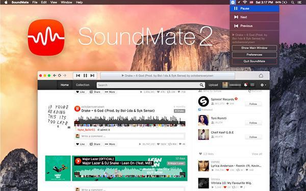 OSX uyumlu SoundCloud istemcisi SoundMate ücretsiz yapıldı