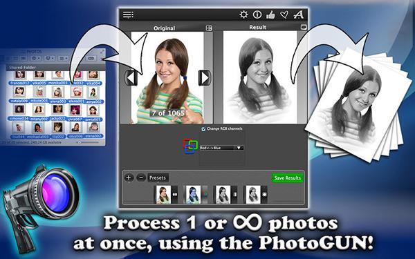Çoklu düzenleme desteğiyle dikkat çeken OSX uyumlu PhotoGunLite artık ücretsiz