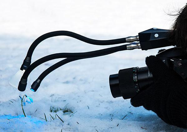 Yakın çekim fotoğraf ve videolar için hareketli ışık kaynağı: Adaptalux