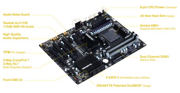 Gigabyte 990XA-UD3 R5 anakartını duyurdu