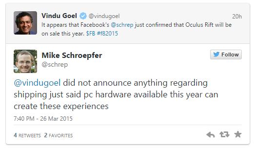 Oculus Rift'in satışa sunulması gelecek yıla sarkabilir